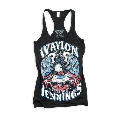 Waylon Jennings Lonesome, On'ry, and Mean Eagle Women's Tank Top - Women's Tank Top - Waylon Jennings Merch Co.
