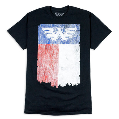 Flying W Texas Flag Waylon Jennings Mens Tee Shirt - Black - Men's Tee Shirt - Waylon Jennings Merch Co.