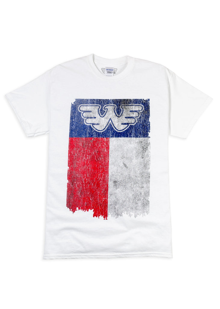 Texas Flag Waylon Jennings Mens Tee Shirt - White