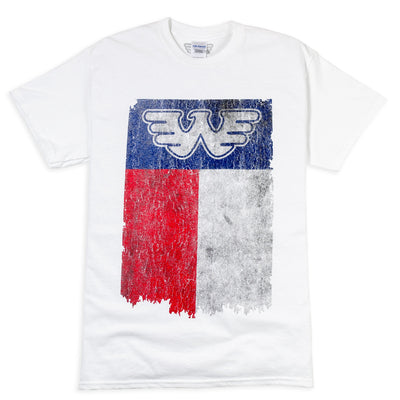 Flying W Texas Flag Waylon Jennings Mens Tee Shirt - White - Men's Tee Shirt - Waylon Jennings Merch Co.