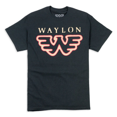 Waylon Jennings Flying W Men's Tee - Men's Tee Shirt - Waylon Jennings Merch Co.