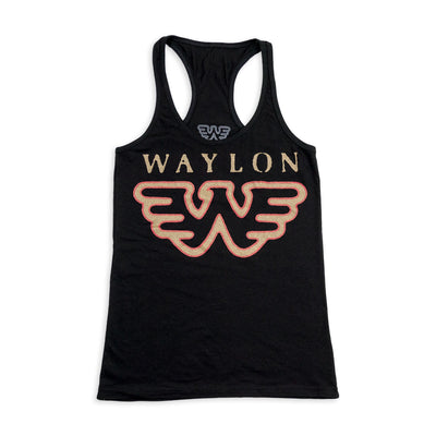 Waylon Jennings Flying W Women's Tank Top - Women's Tee Shirt - Waylon Jennings Merch Co.