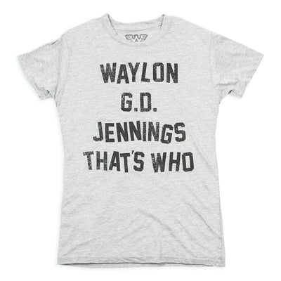 Waylon G.D. Jennings Womens Tee Shirt - Women's Tee Shirt - Waylon Jennings Merch Co.