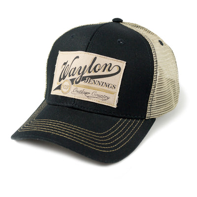 Waylon Jennings Outlaw Country Trucker Hat - Accessories - Waylon Jennings Merch Co.