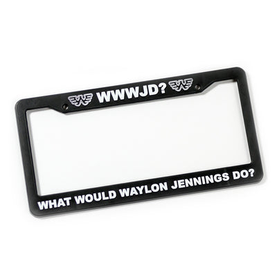What Would Waylon Jennings Do? License Plate Holder - Accessories - Waylon Jennings Merch Co.