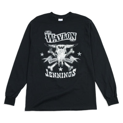 Drinkin' and Dreamin' Waylon Jennings Longsleeve Shirt - Men's Tee Shirt - Waylon Jennings Merch Co.