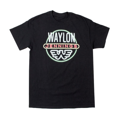 Waylon Jennings Neon Light Nights Mens Tee Shirt - Men's Tee Shirt - Waylon Jennings Merch Co.