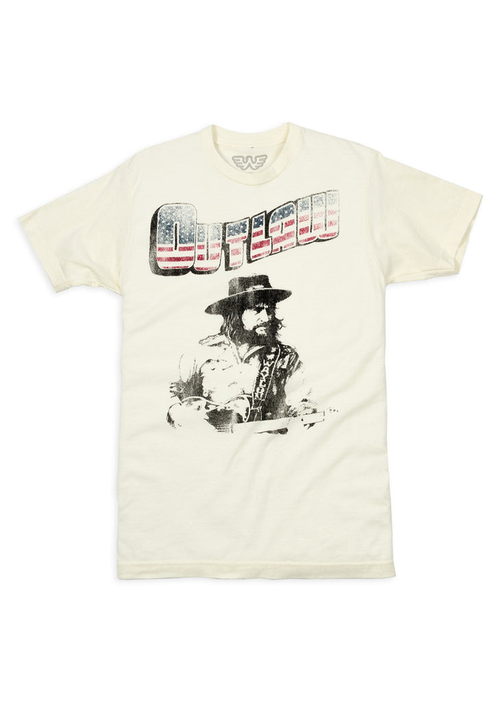 Outlaw Waylon Jennings Men's Tee Shirt