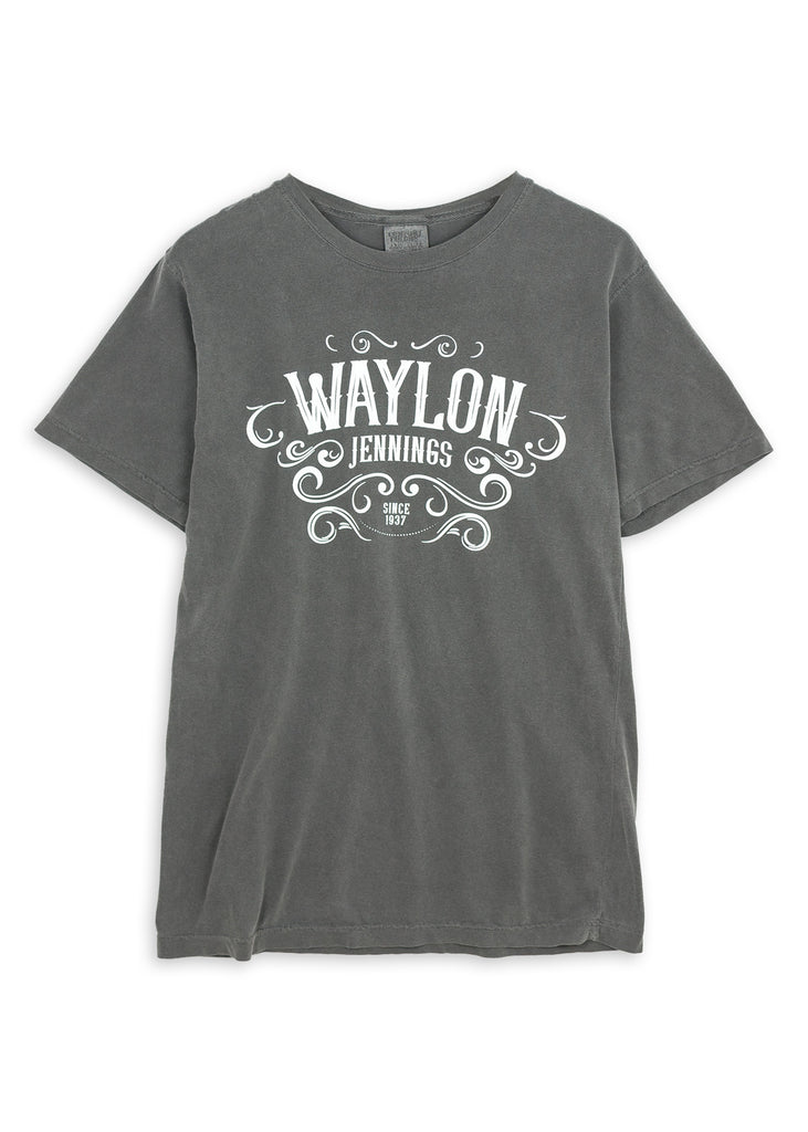 Waylon Jennings Pigment Dyed Men's Crewneck Shirt