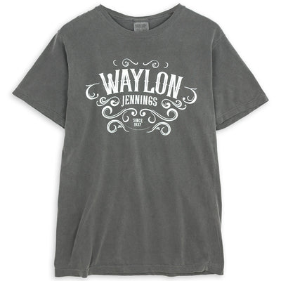 Waylon Jennings Pigment Dyed Men's Crewneck Shirt - Men's Tee Shirt - Waylon Jennings Merch Co.