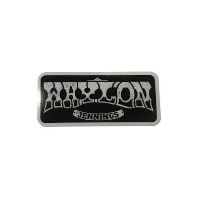 Rectangle Waylon Jennings Logo Sticker - Stickers - Waylon Jennings Merch Co.
