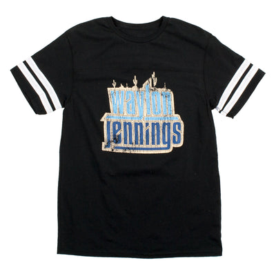 Waylon Jennings Football Stripes Shirt - Men's Tee Shirt - Waylon Jennings Merch Co.