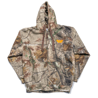 Waylon Jennings Flying W Embroidered Camo Zip-Up