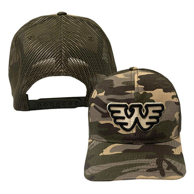 3D Outline Flying W Waylon Jennings Trucker Hat