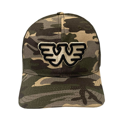 3D Outline Flying W Waylon Jennings Trucker Hat - Accessories - Waylon Jennings Merch Co.