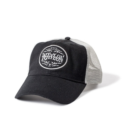 Waylon Jennings Flying W Oval Logo Trucker Hat - Accessories - Waylon Jennings Merch Co.