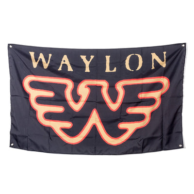 Waylon Jennings Flying W Wall Flag - Accessories - Waylon Jennings Merch Co.
