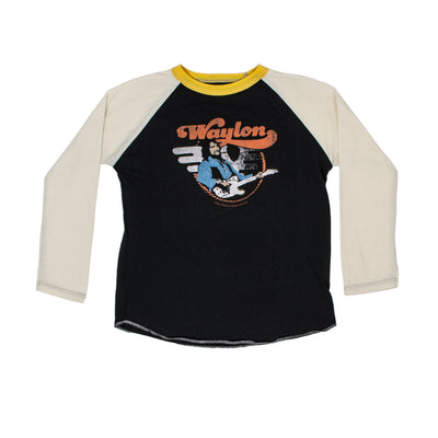 Waylon Jennings Telecaster Guitar Raglan Kid's Tee -  - Waylon Jennings Merch Co.