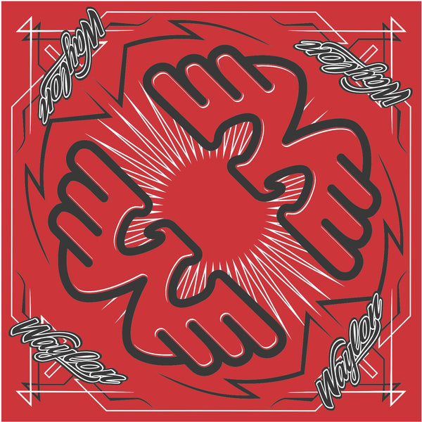 "22"" Waylon Jennings Red Bandana - Accessories - Waylon Jennings Merch Co."