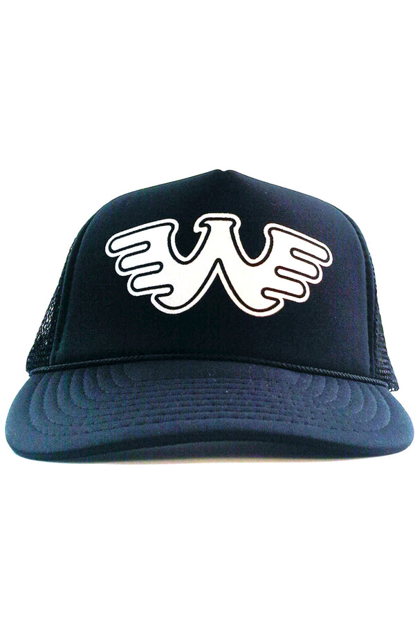 74fa62397011e Raised on Waylon Jennings Distressed Navy Trucker Hat - Waylon Jennings  Merch Co.