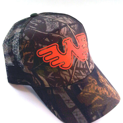 Waylon Jennings Flying W Trucker Hat - Oak Camo - Accessories - Waylon Jennings Merch Co.