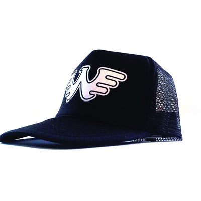 Waylon Jennings Symbol Flying W Trucker Hat - Black - Accessories - Waylon Jennings Merch Co.