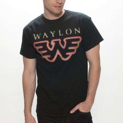 Waylon Jennings Red & Gold Flying W Men's Tee - Men's Tee Shirt - Waylon Jennings Merch Co.