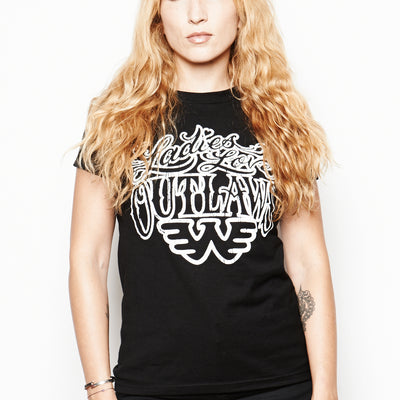 Ladies Love Outlaws Waylon Jennings Women's Tee - Women's Tee Shirt - Waylon Jennings Merch Co.