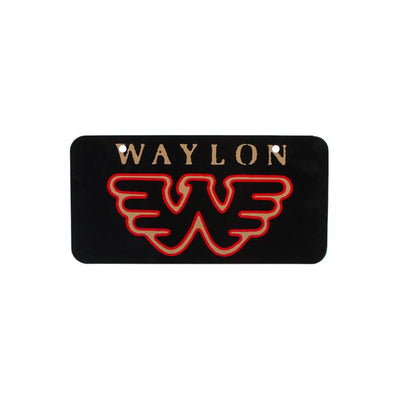 Waylon Jennings Flying W License Plate