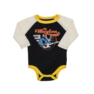 Waylon Jennings Telecaster Guitar Baby Onesie - Onesie - Waylon Jennings Merch Co.