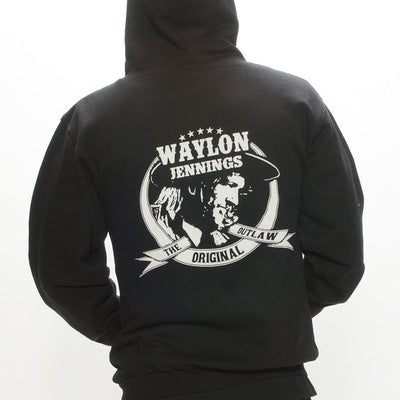 Waylon Jennings Original Outlaw Men's Zip Up Hoodie - Men's Tee Shirt - Waylon Jennings Merch Co.
