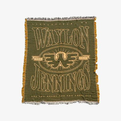 Waylon Jennings Ready For The Country Blanket - Blanket - Waylon Jennings Merch Co.