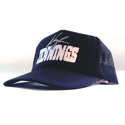 Waylon Jennings Signature Trucker Hat - Black - Accessories - Waylon Jennings Merch Co.