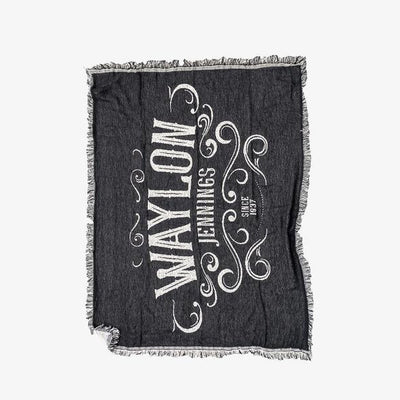 Waylon Jennings Since 1937 Blanket - Blanket - Waylon Jennings Merch Co.