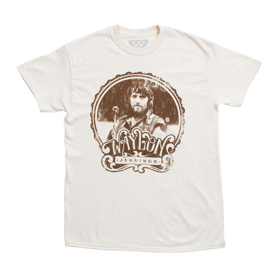 Waylon Jennings Vintage 70's Style Shirt - Men's Tee Shirt - Waylon Jennings Merch Co.