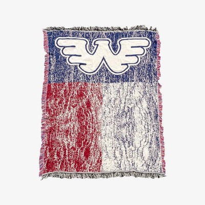 Waylon Jennings Flying W Symbol Texas Flag Blanket - Blanket - Waylon Jennings Merch Co.