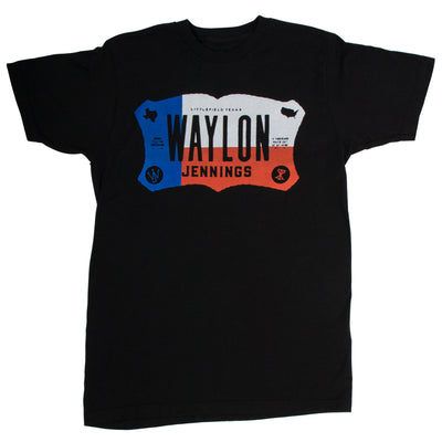 Waylon Jennings Texas Plate Tee Shirt -  - Waylon Jennings Merch Co.