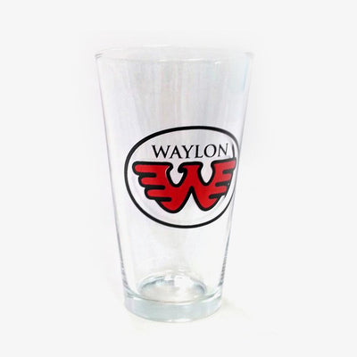 Waylon Jennings Flying W Pint Glass - Accessories - Waylon Jennings Merch Co.