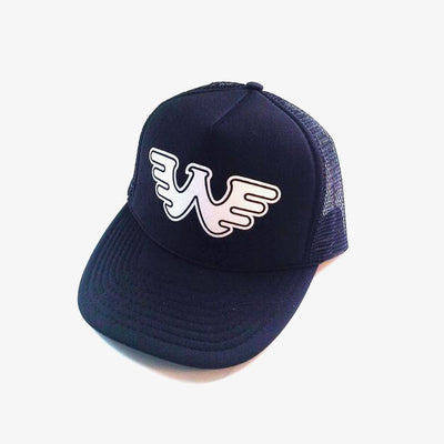 Waylon Jennings Flying W Trucker Hat - Black - Accessories - Waylon Jennings Merch Co.