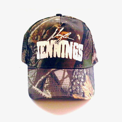 Waylon Jennings Signature Trucker Hat - Oak Camo