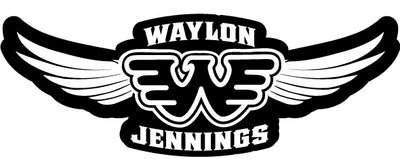 Waylon Jennings Wings Patch - Accessories - Waylon Jennings Merch Co.