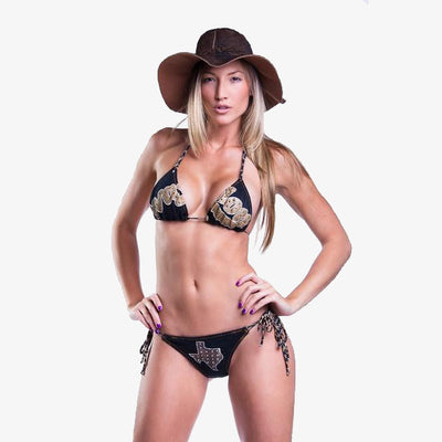 Honky Tonk Heroes Waylon Jennings Women's Bikini - Brazilian Back - Women's Bikini - Waylon Jennings Merch Co.