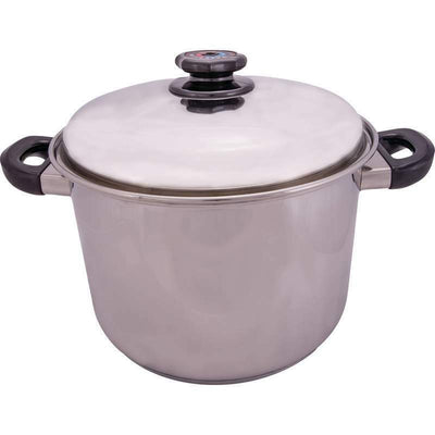 Precise Heat Steam Control Waterless Cookware Stock Pot 12 Qt 12 Element KTSP5