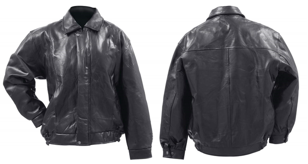 Giovanni Navarre Bomber Style Genuine Buffalo Leather Jacket Italian Design
