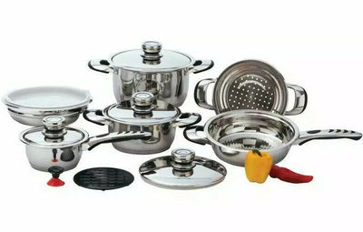 Copy of Chef's Secret 12pc Cookware Set Waterless Heavy Gauge Stainless Steel Pans 9 Ply