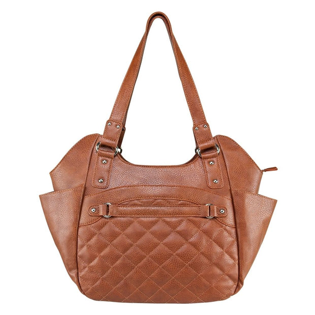Vism Leather CCW Quilted Hobo Larg Concealed Carry Gun Purse HandBag NEW
