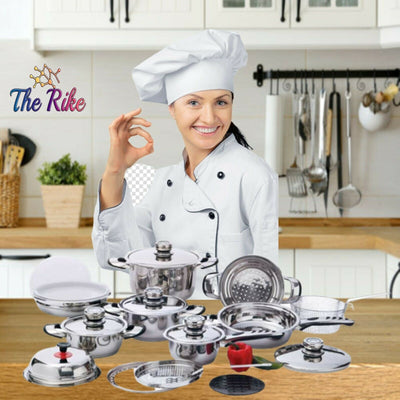 Chef's Secret 22 pieces 12 Element Stainless Steel Cookware Set Heavy Duty Pans
