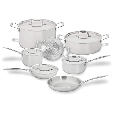 Maxam 12 Piece Stainless Steel Cookware Set Stockpot Fry pan Saucepan Steamer