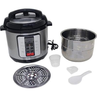 Precise Heat 6.3Qt Electric Pressure Cooker with Stainless Steel Pot 6 Functions