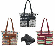 Vism Leather Concealed Carry Gun Purse CCW Printed Tote Purse Women Handbag